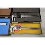 "(2) Stainless Steel Dial Calipers .001"" - 6"" and (1) Stainless Steel Caliper .001"" - 14"" and (1)"