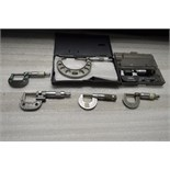 "Various O.D. Micrometers (Various Brands) (4) .001"" - 1"" and (1) .001"" - 2"""