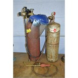 Acetylene Bottle Canister with Torch Head Attachment and Argon Gas Bottle Canister
