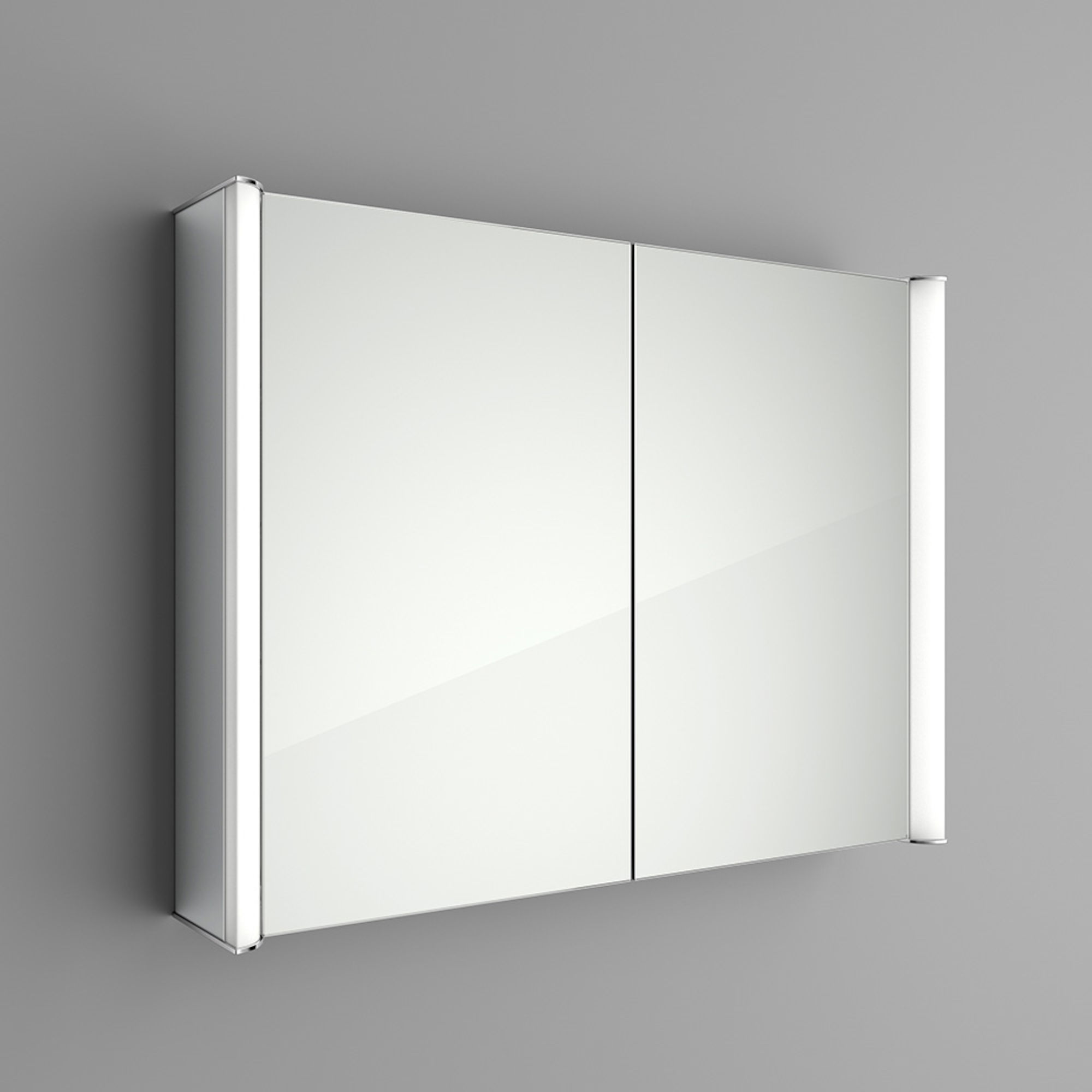 Lot 26 - (LP23) 800x600mm Bloom Illuminated LED Mirror Cabinet - Shaver Socket. RRP £499.99. Double Sided