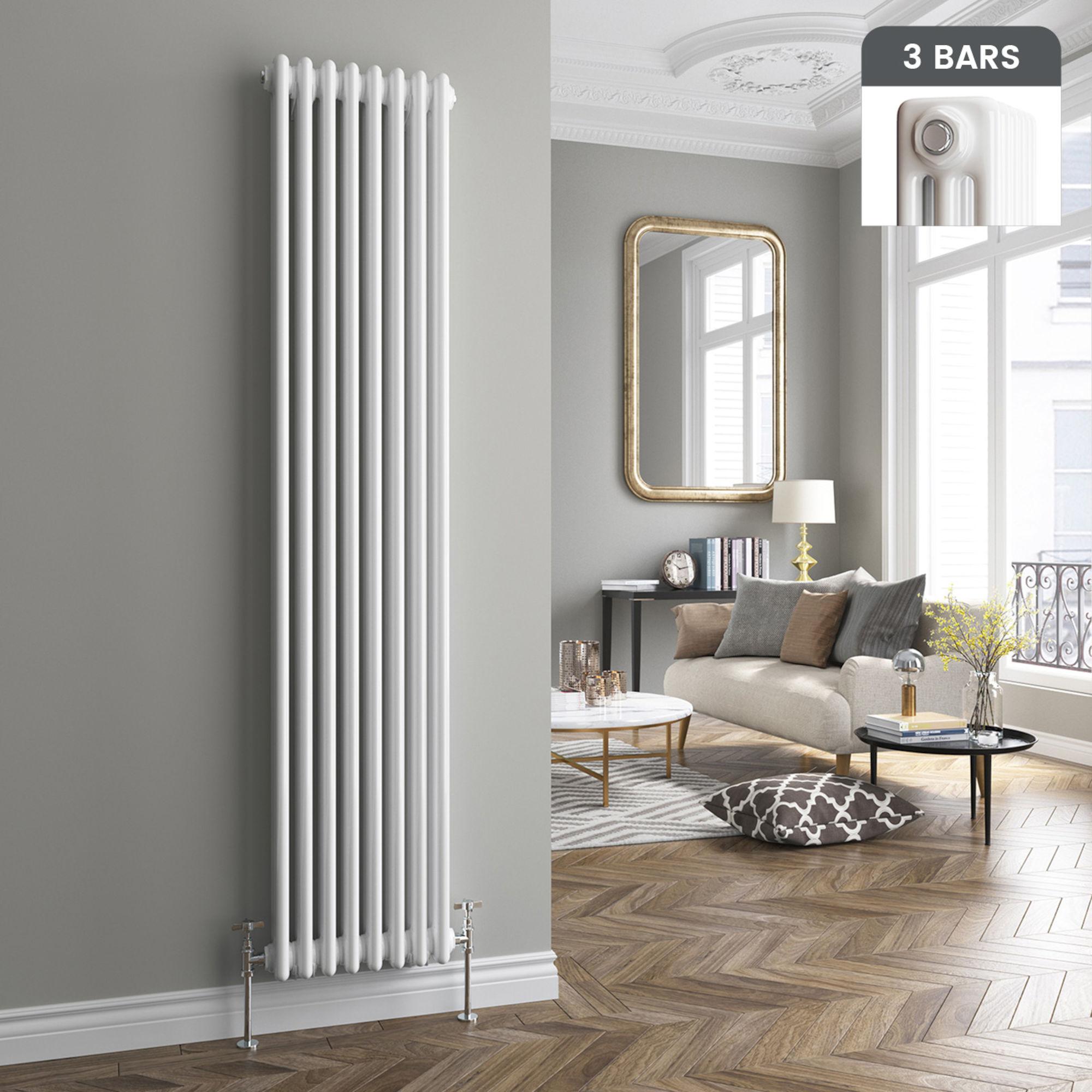 Lot 40 - (LP36) 1800x380mm White Triple Panel Vertical Colosseum Radiator. RRP £521.99. For an elegant style,