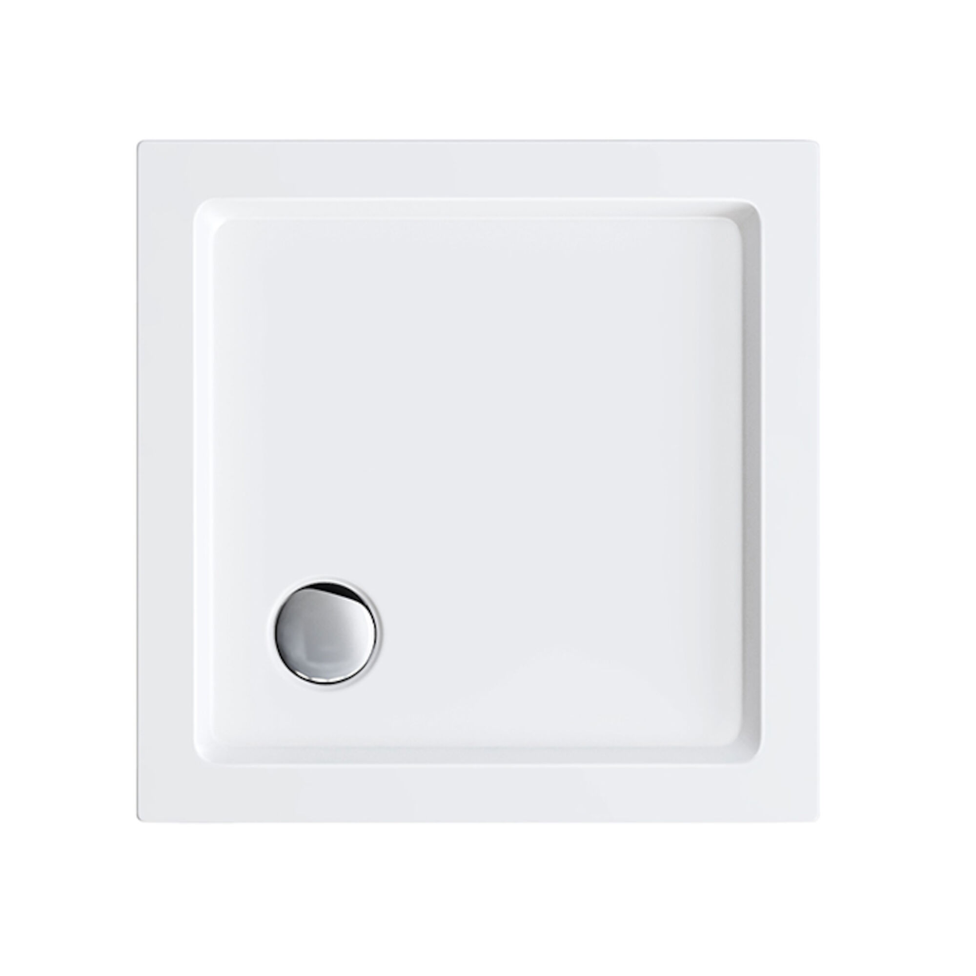 Lot 53 - (LP47) 760x760mm Square White Shower Tray.Strong & Slimline low profile design - lightweight without