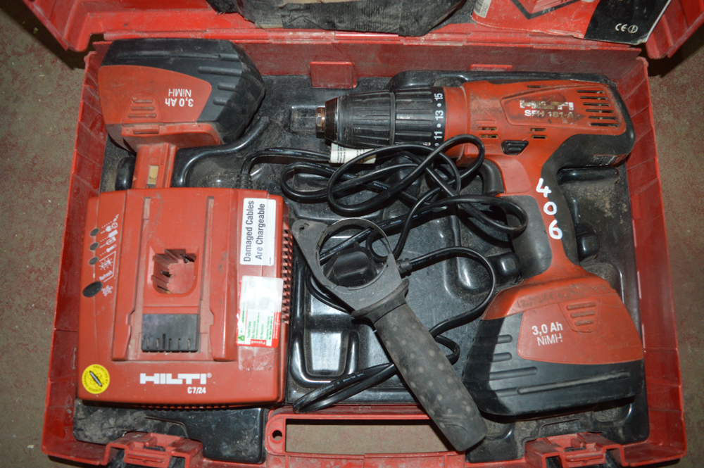 hilti sfh 181 a 18v cordless drill c w 2 batteries. Black Bedroom Furniture Sets. Home Design Ideas