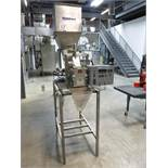 WeighPack model Autoweigher AW-11L-3P S/S weigh filling machine, S/N: 3877, c/w top-mounted