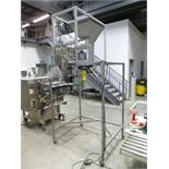 JDA model SF Weigh Filler S/S weigh filling machine, S/N: 110512, c/w top-mounted hopper, mobile