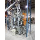 ZGZ rotary volumetric packaging machine for preformed bags, w/auto folding and tuck, hot melt, model