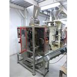 (2015) 4 Lane Automatic Granule Packing Machine set for 2 kg sugar bags, model DXDK-320, S/N