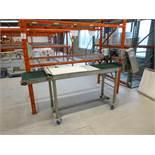 belt conveyor on casters, 20 in. x 94 in., 1.5 hp, VSD