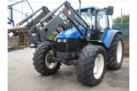 2001 New Holland TS110 4wd Tractor with Quickie 660 Front Loader