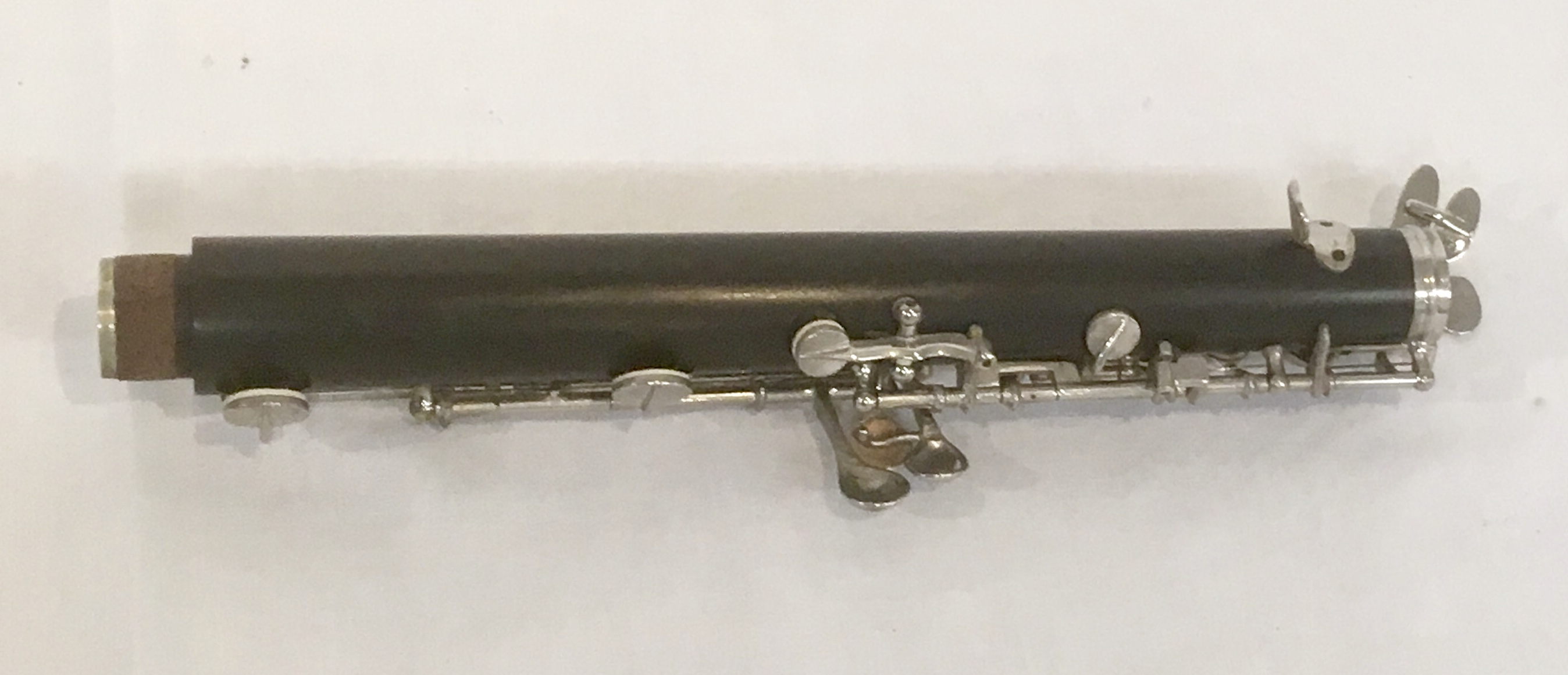 Lot 175 - Howarth S2 ebony oboe with thumbplate and semi automatic octaves, manufactured January 1954 with