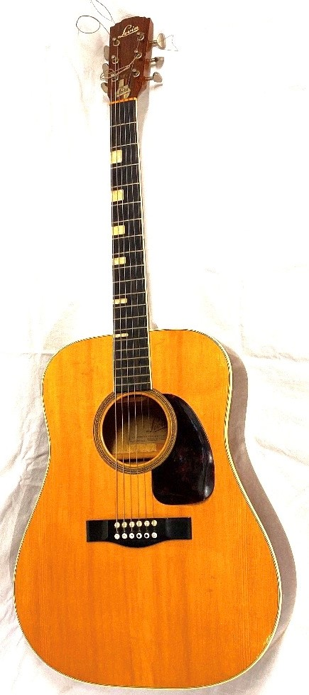 Lot 181 - Levin LT-18 Swedish made acoustic guitar with solid spruce top and mahogany back and sides. Mother