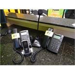 (2) Polycom Ring Central Phones Boger DDU250 Dynamic Uni-Directional microphone, Yealink cordless