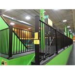"""Safety Railing System consisting of: (13) 46"""" H metal posts, (8) 40"""" x 70"""" L section railing, (2)"""