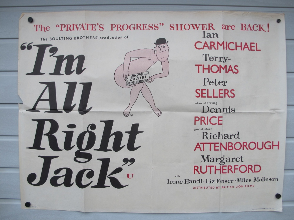 Film Poster, I'm Alright Jack UK Quad poster for this 1959 ...
