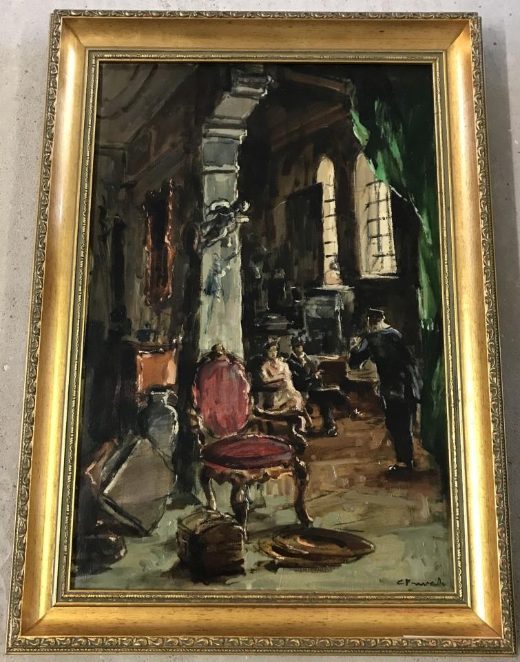 Lot 172 - Cosimo Privato - 20th century oil on canvas. Dal l' Antiquarie.