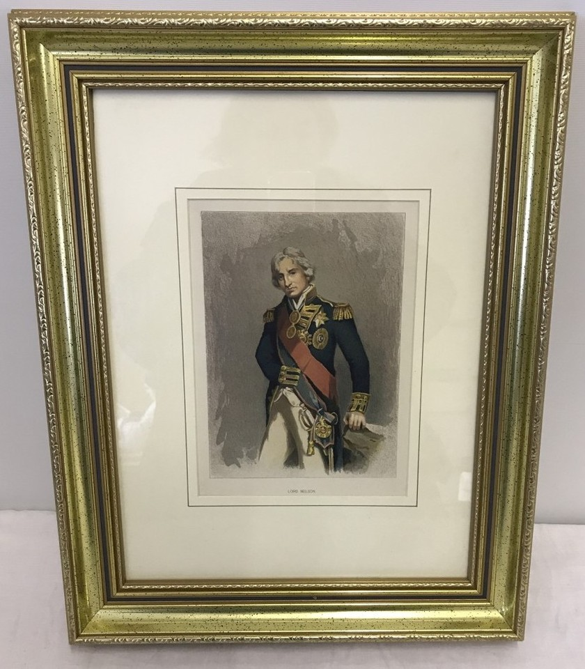 Lot 84 - Original lithograph circa 1890 of Lord Nelson.