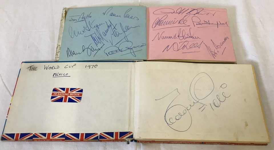 Lot 124 - World Cup 1970 - approx. 110 autographs inc. entire England & Czech squads, Pele & Carlos Alberto.