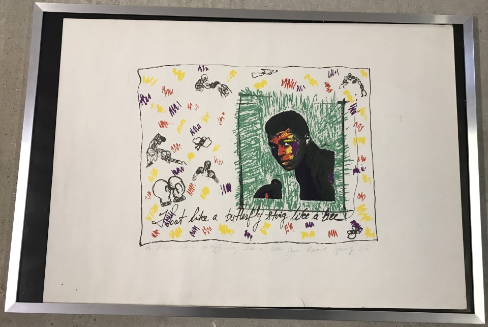 Lot 177 - Muhammad Ali print - Artist's Proof by Jan Nevard.