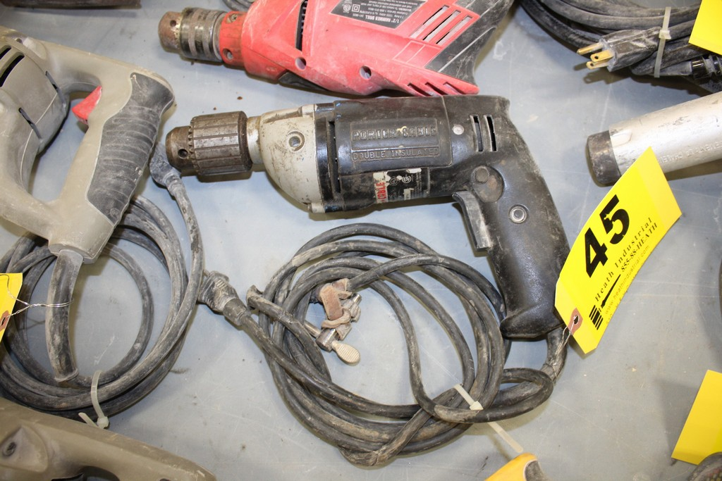 "Lot 45 - PORTER CABLE 1/2"" ELECTRIC DRILL"