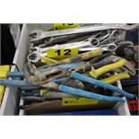 LARGE QTY OF PLIERS, CHANNEL LOCKS, SNIPS, ETC. IN BOX