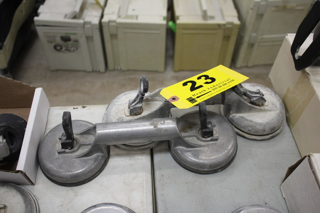 PAIR OF VERIBOR SUCTION CUP MATERIAL LIFTERS