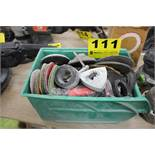 ASSORTED GRINDER AND SANDER PARTS AND DISCS