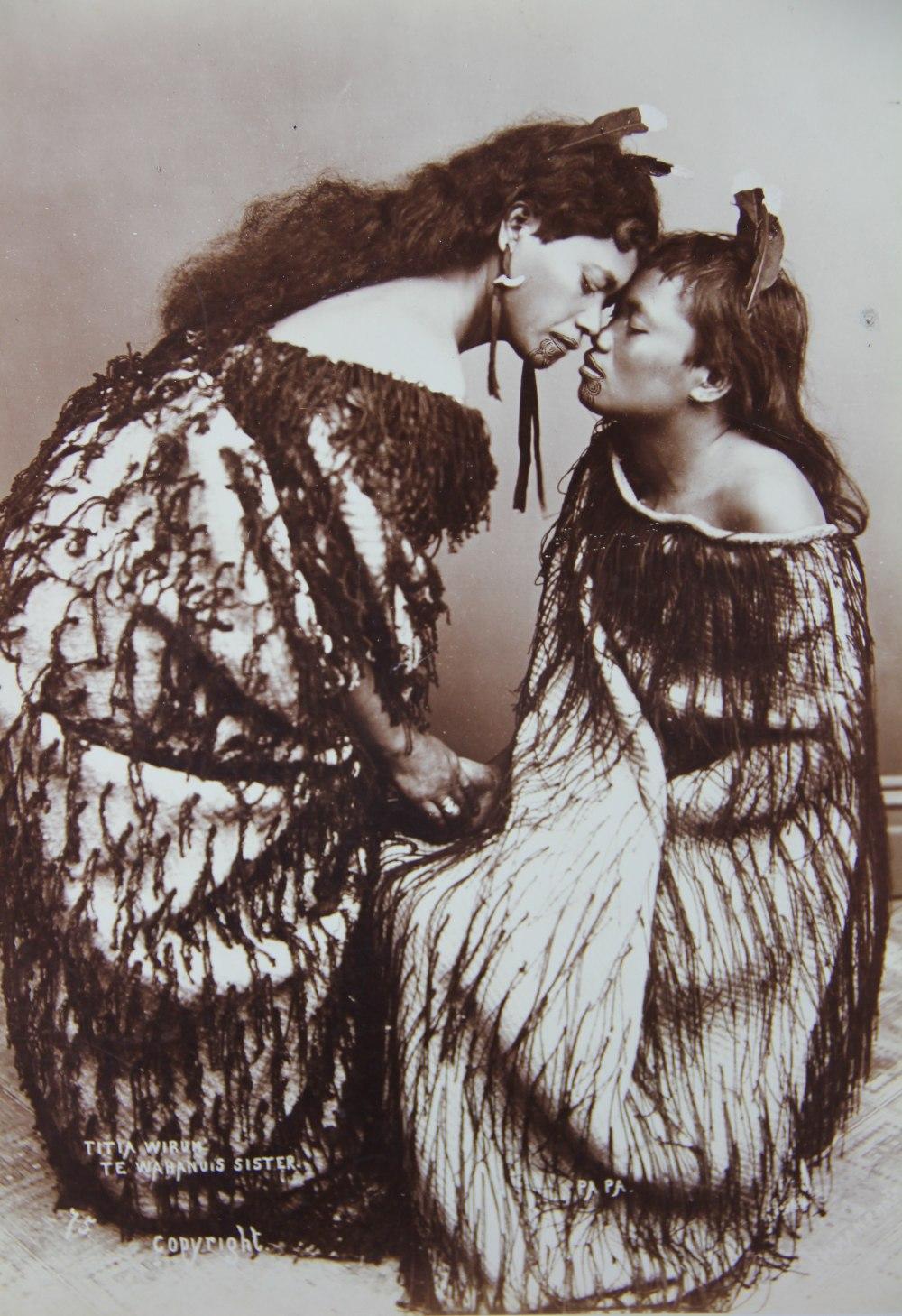 Lot 354 - Elizabeth Pulman (1836-1900), 'Tita Wirum Te Wahanuis Sisters', an albumen photograph,