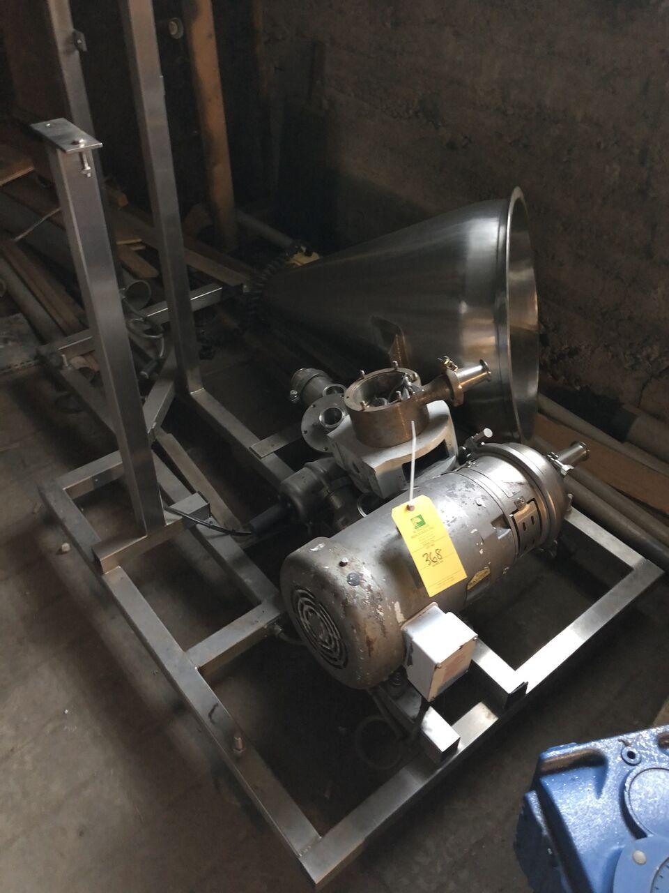 Lot 368 - Baldor 10HP Motor, Comes W/ Stands & A Cylinder