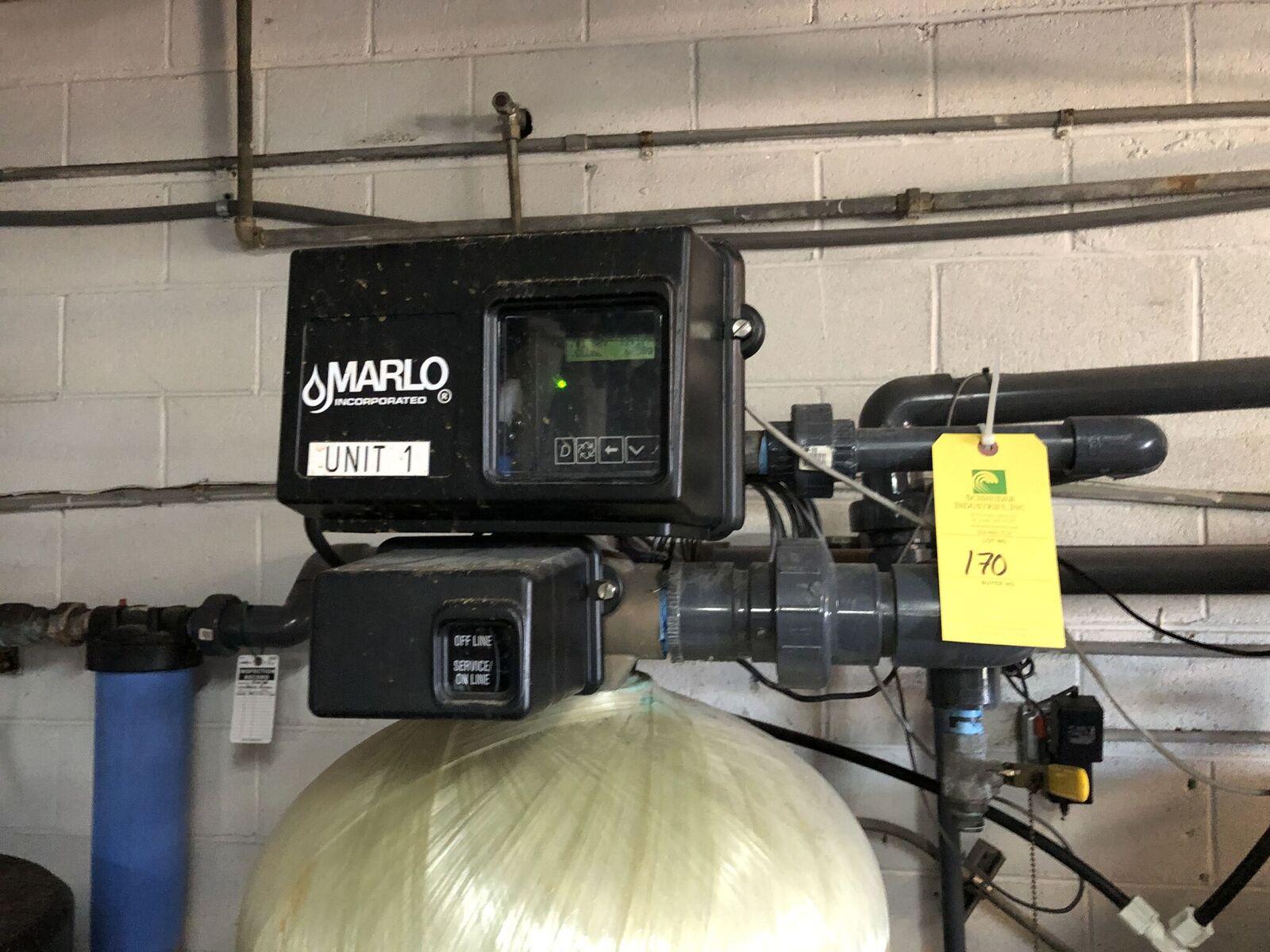 Lot 170 - Marlo Water Softner, Model #MGT-150-2 TW-ALTNXT, Volts 120, L = 19'', W = 19'' H = 80''