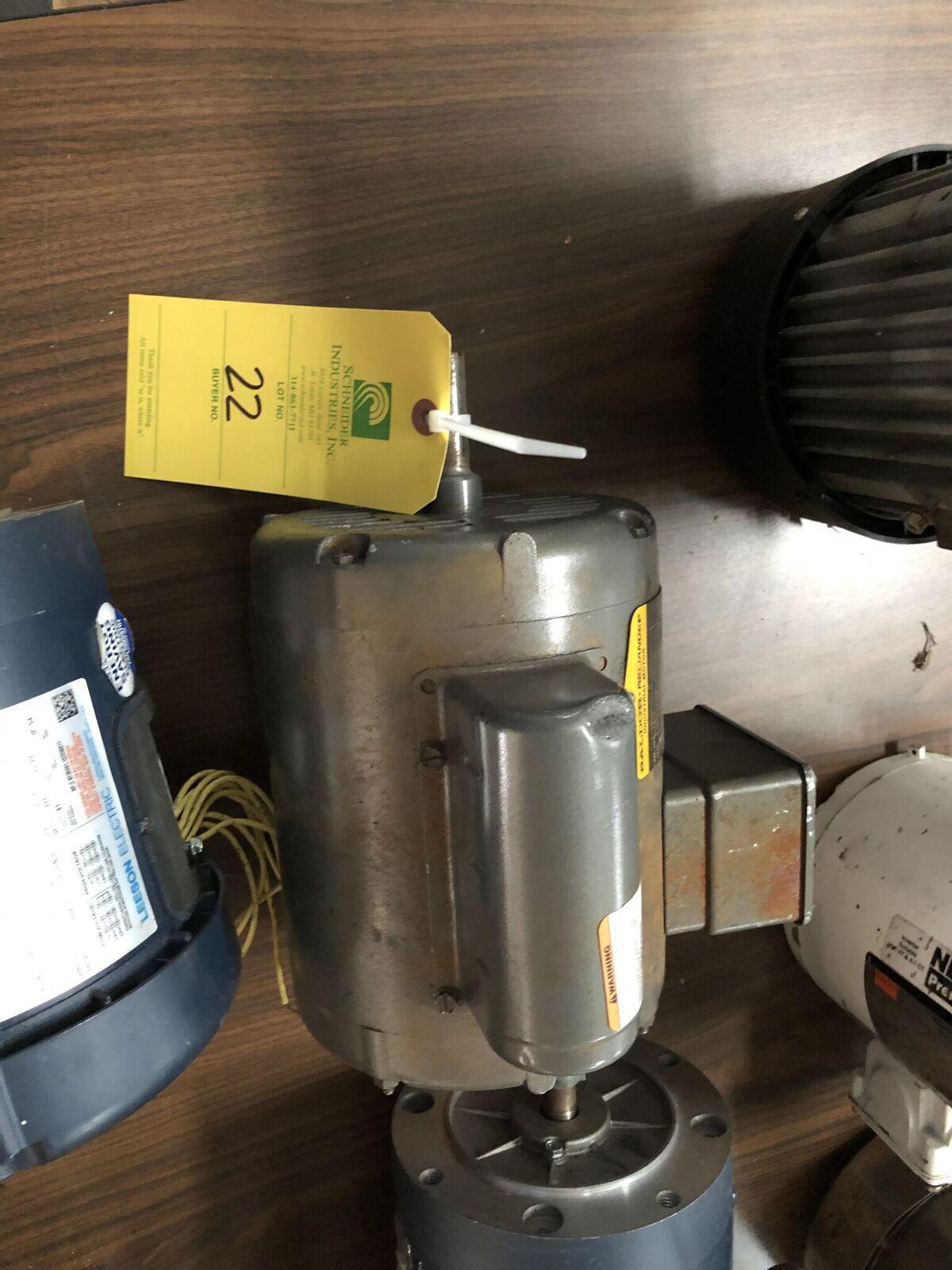 Lot 22 - 1 HP Baldor Motor