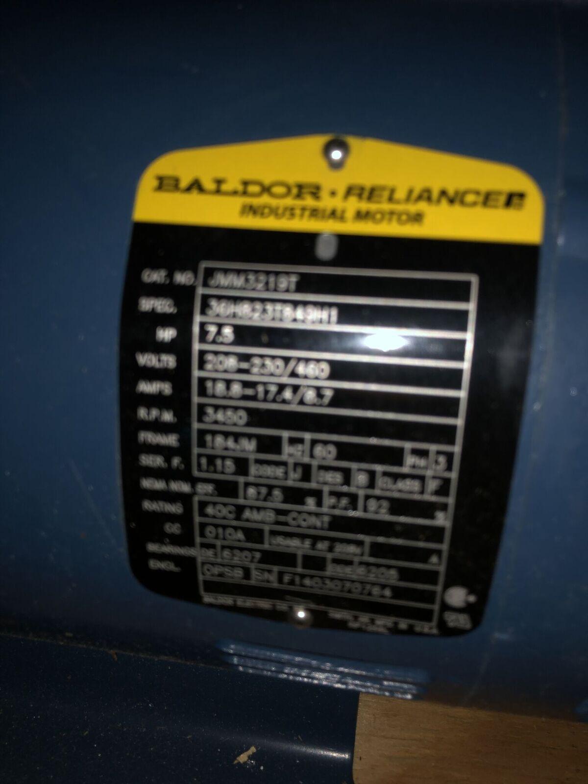 Baldor 7.5 HP Motor & Pump - Image 2 of 2