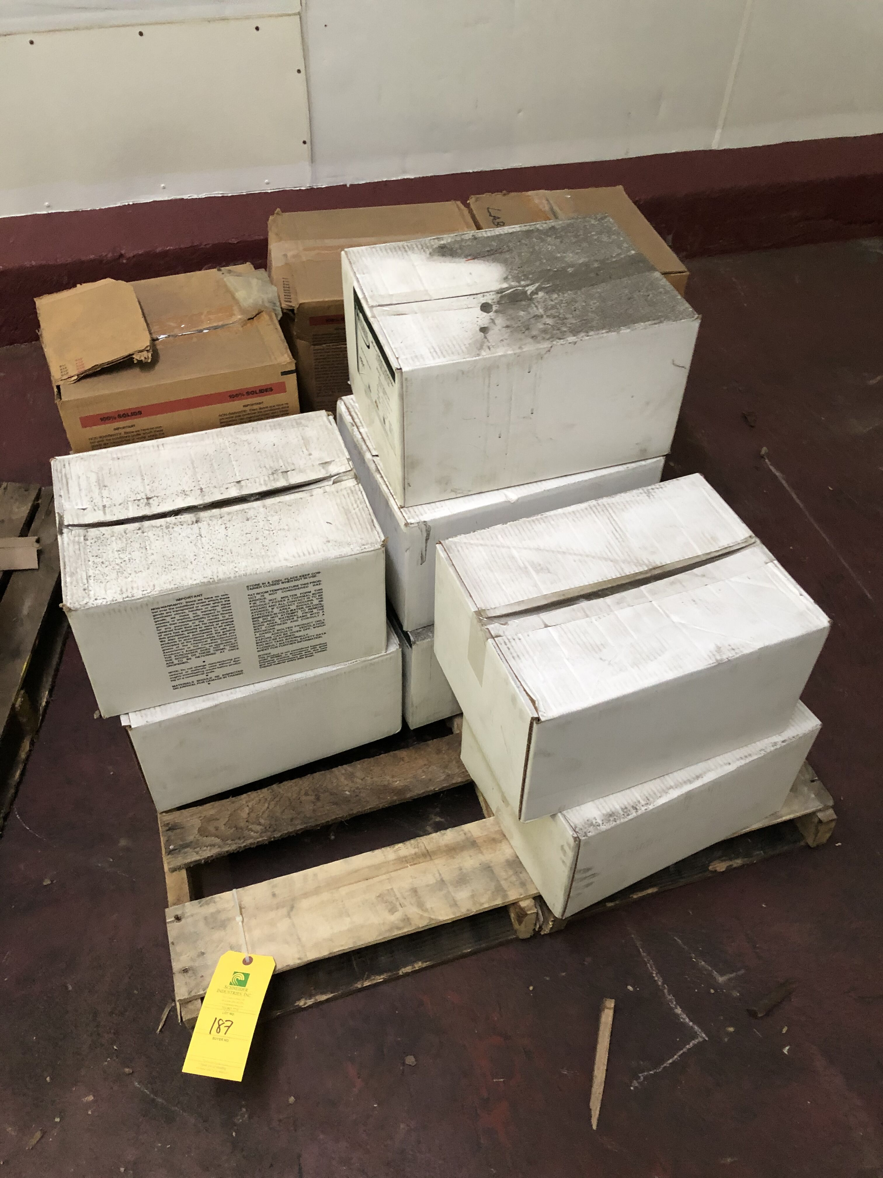 Lot 187 - (6) Boxes of H891 Adhesives, (3) Boxes of Instant Lok Adhesive from National Adhesive