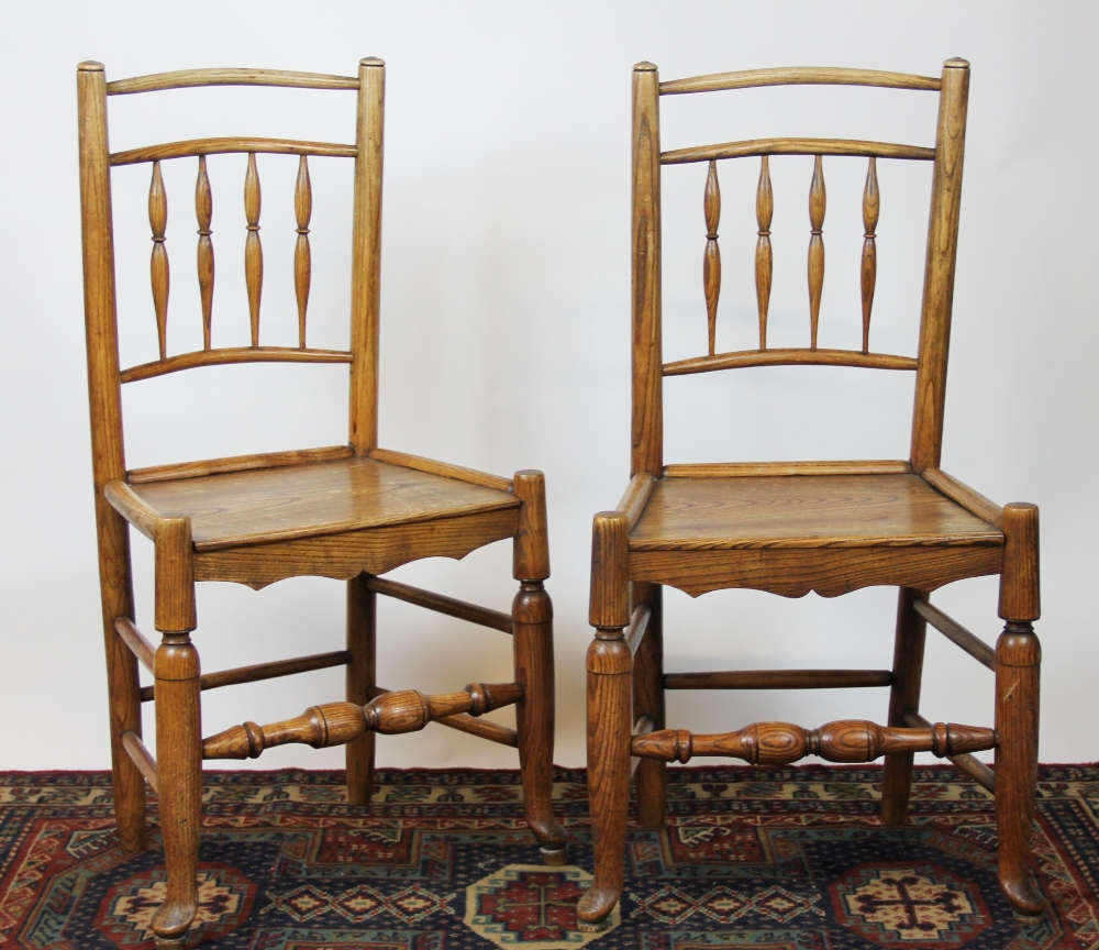 Trade Stands Glastonbury : A set of four th century ash kitchen chairs with solid