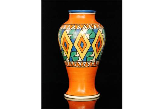 Clarice Cliff Diamonds Variant A Large Shape 14 Mei Ping Vase