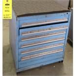 Vidmar Blue 7-Drawer Cabinet NO CONTENTS
