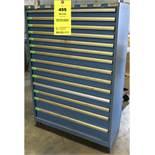 Vidmar Blue 14-Drawer Cabinet NO CONTENTS