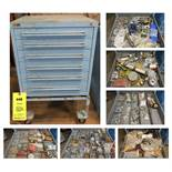 Vidmar Blue 6-Drawer Cabinet on Casters WITH CONTENTS