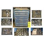 Vidmar Blue 9-Drawer Cabinet WITH CONTENTS (RING GAGES etc.)