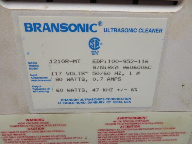 BRANSON 120R-MT ULTRASONIC CLEANER - Image 2 of 2