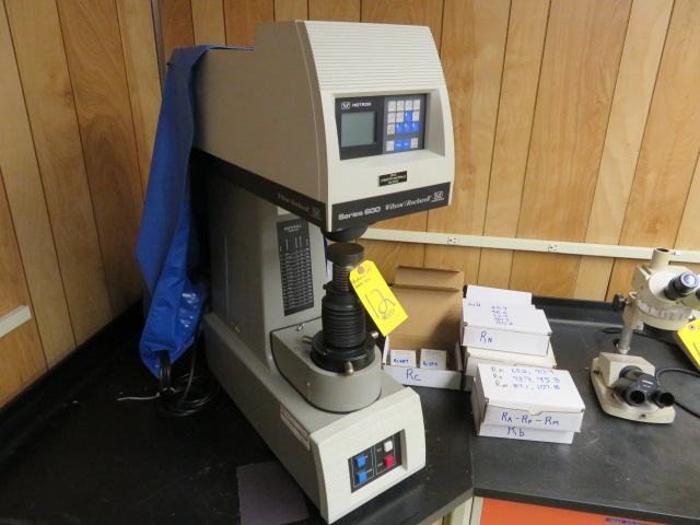 INSTRON WILSON/ROCKWELL SERIES 600 Digital HARDNESS TESTER, MDL. A653T - Image 3 of 3