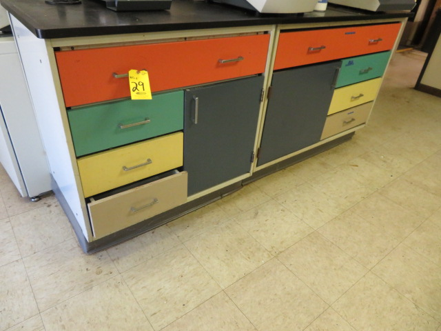 (3) FREE- STANDING LAB COUNTER SECTIONS