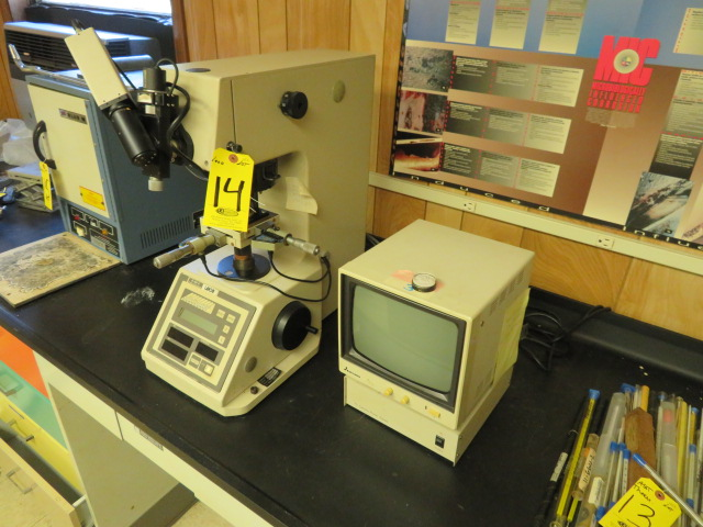 LECO M-400-M1 MICRO HARDNESS TESTER, CODE 810-118A W/ CCTV SYSTEM W/ MONITOR - Image 4 of 4