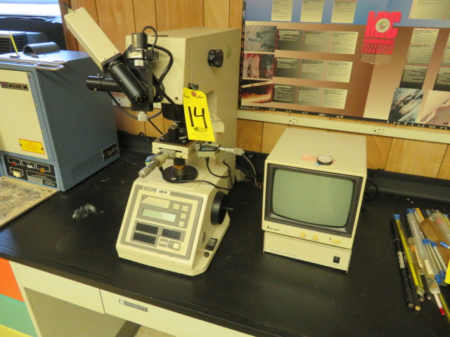 LECO M-400-M1 MICRO HARDNESS TESTER, CODE 810-118A W/ CCTV SYSTEM W/ MONITOR