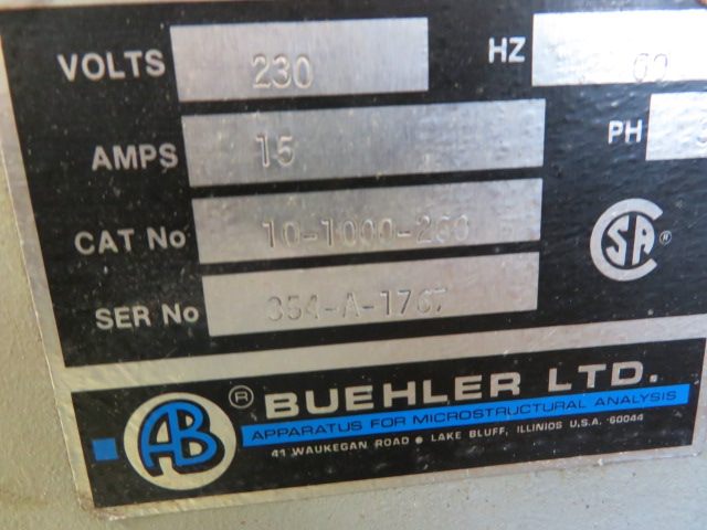 BUEHLER WET CUT-OFF SAW TYPE 10-1000-250 - Image 2 of 2