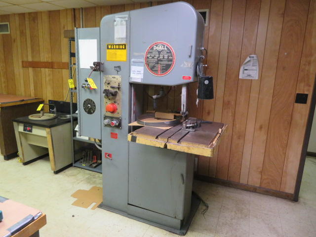 "DOALL 2012-2H HYDRAULIC FEED 20"" VERTICAL BAND SAW, BLADE WELDER/ GRINDER, S/N 383-86280"