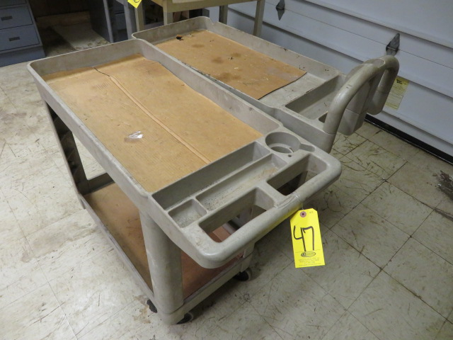 (2) RUBBERMAID CARTS