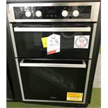 Ex Display Whirlpool AKL309IX Built In Double Oven - Stainless Steel - RRP£529
