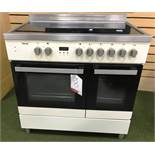 Ex Display Teknix TKCF90PCR 90cm Double Oven Ceramic Hob Range Cooker - RRP£599.99