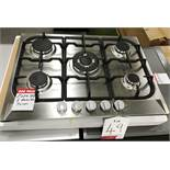 Ex Display Unbranded UBGHCFF70SS2 70cm Gas Hob - Stainless Steel - RRP£259.99