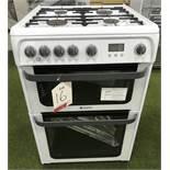 Ex Display Hotpoint JLG60P 60cm Gas Cooker - Polar White - RRP£399.99